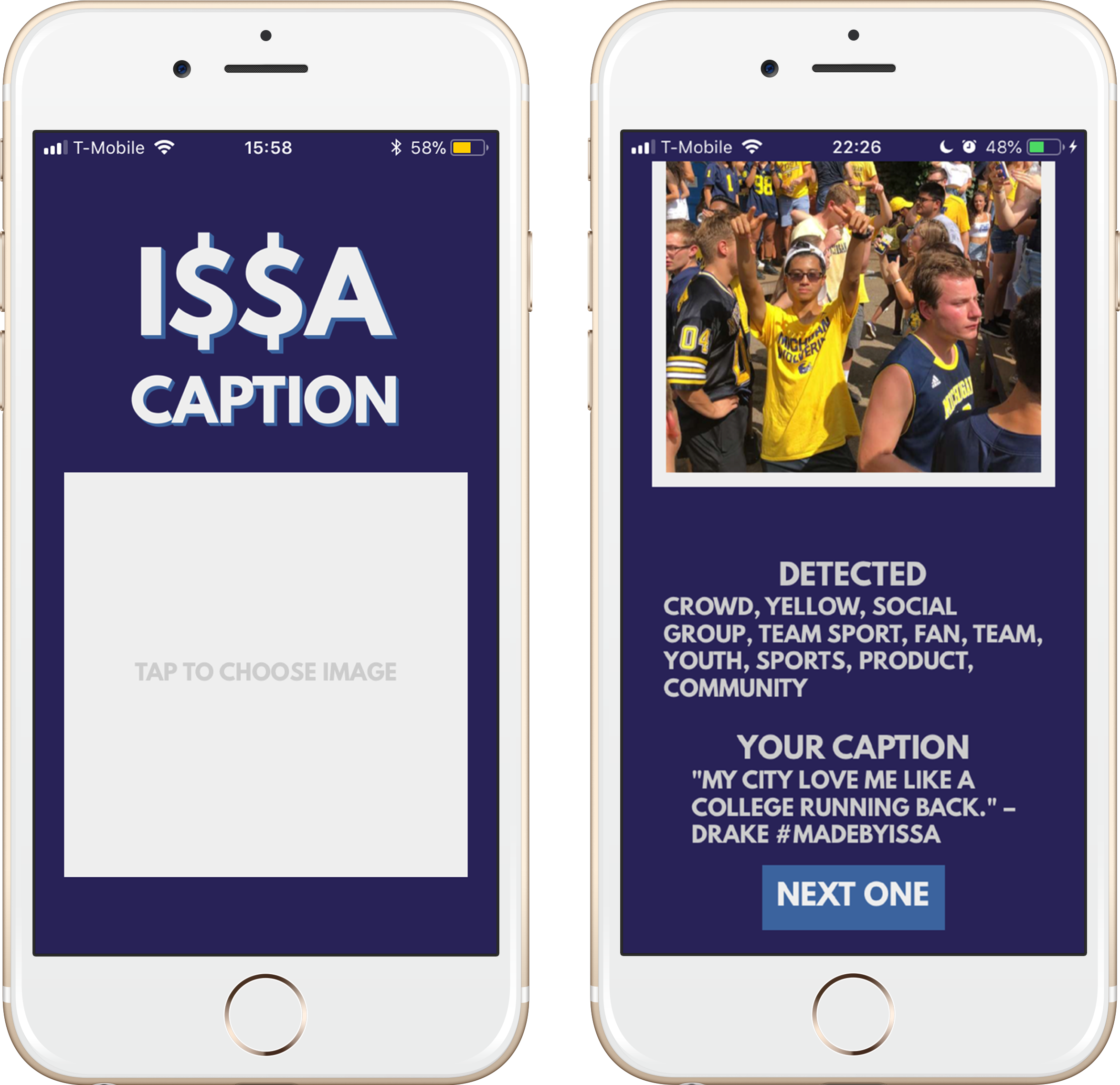 Issa Caption iPhone Mockup